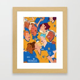 Football Fans Framed Art Print