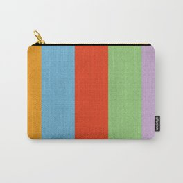 VINTAGE RETRO PATTERN VERTICAL BARS Carry-All Pouch