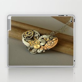 Steampunk Heart of Gold and Silver Laptop & iPad Skin