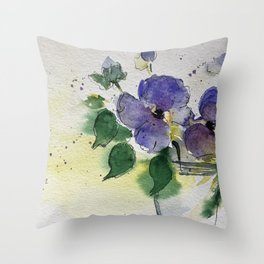 purple flowers 2 Throw Pillow