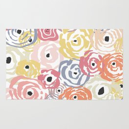 Colorful Flower Bundle Rug