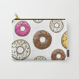 Funfetti Donuts - White Carry-All Pouch