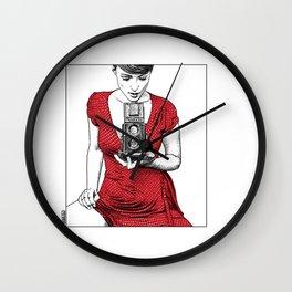 asc 165 - Le regard inversé (d'après zzitlali) Wall Clock