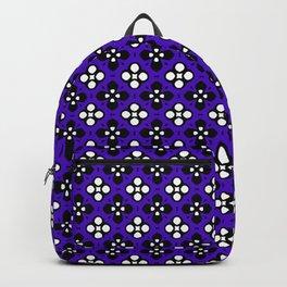 Ornate Violet & Black Flower Pattern Backpack