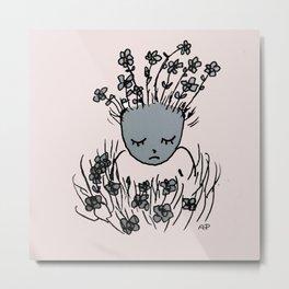 Flower Baby Metal Print