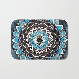 Sky Blue Galaxy Mandala Bath Mat
