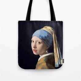 Girl With a Pearl Earring - Vermeer Tote Bag