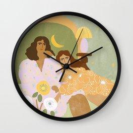 Violet Lamp Wall Clock