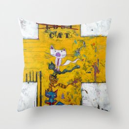 Lost Cat Throw Pillow