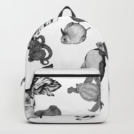 Sea Animals Pattern Backpack