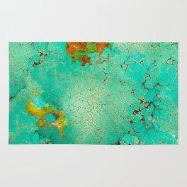 Crackeled Turquoise Stone Rug