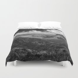 Dramatic Cloudy Mountain View at Lost Mine Trail, Big Bend Duvet Cover