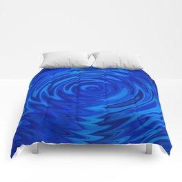 Water Moon Cobalt Swirl Comforters