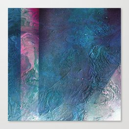 Atmosphere // blue magenta abstract textural painting, modern Canvas Print