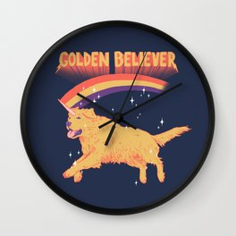 Golden Believer Wall Clock