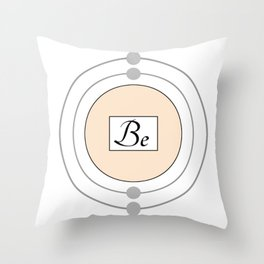 Beryllium - Bohr Model Throw Pillow