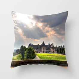 The Biltmore House Throw Pillow