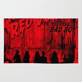 "The Perfect Red Velvet ""Bad Boy"" Rug"