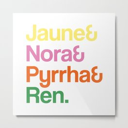 JNPR Text Stacked Metal Print