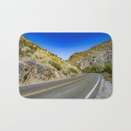 Highway Road Cutting through the Mountains in the Anza Borrego Desert, California, USA Bath Mat