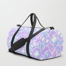 Video Game Controllers in Pastel Colors Duffle Bag
