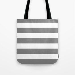 Trolley grey - solid color - white stripes pattern Tote Bag