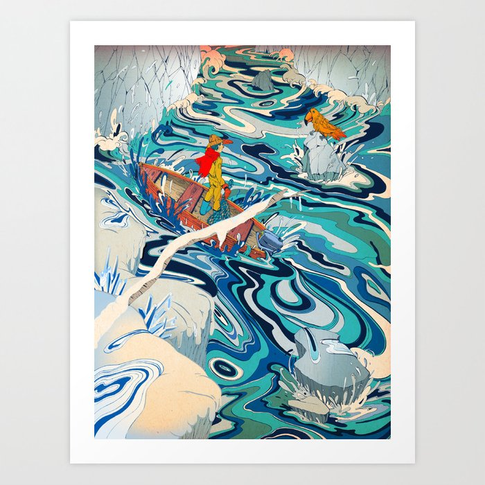 """""""The Hidden Ocean Patch That Broke Climate Records"""" by Paulo D. Campos for Nautilus Art Print"""
