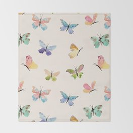 Beautiful Butterflies Throw Blanket