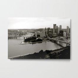 Steel City Metal Print