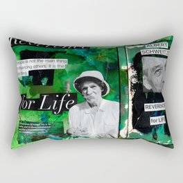 Albert Schweitzer Rectangular Pillow
