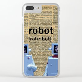 Flight of the Robots Clear iPhone Case
