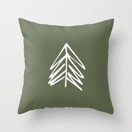Pacific Northwest Evergreen | In Oregon Green Throw Pillow