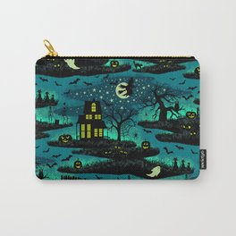 Halloween Night - Fox Fire Green Carry-All Pouch