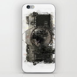retro camera illustration / painting /drawing  2 iPhone Skin