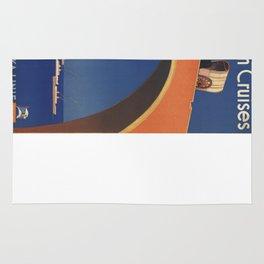 Vintage poster - Mediterranean Cruises Rug