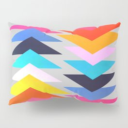 Multicolored triangles Pillow Sham