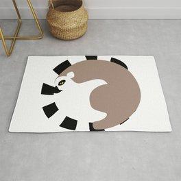 Circle lemur Rug