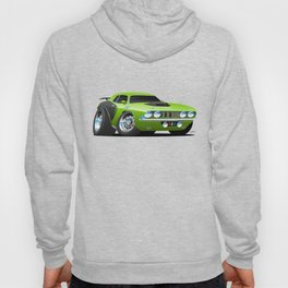 Classic Seventies Style American Muscle Car Cartoon Hoody