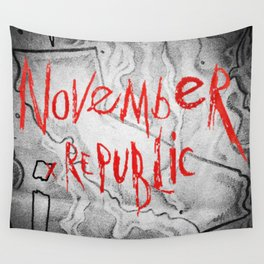 November Republic - Chapter : Red California Wall Tapestry