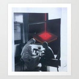 """Le fil rouge"" Art Print"