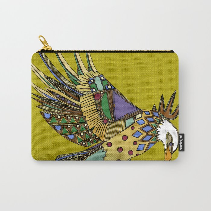 jewel eagle chartreuse Carry-All Pouch