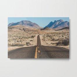 High Desert Highway Metal Print