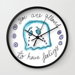 You are allowed to have Feelings Wall Clock