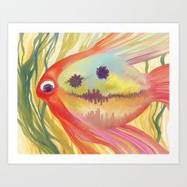Fish City Art Print