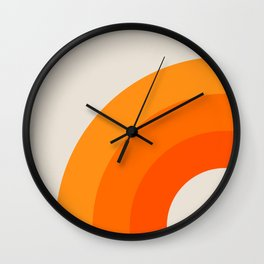 Creamsicle Bow Wall Clock