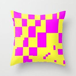 Egg Yellow-Fuchsia City Scapes Abstract Throw Pillow