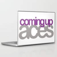 asexual Laptop & iPad Skins featuring coming up aces by Brizy Eckert