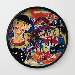 A Clown's Day             by Kay Lipton Wall Clock