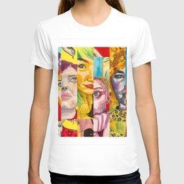 Female Faces Portrait Collage Design 1 T-shirt