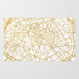 PARIS FRANCE CITY STREET MAP ART Rug